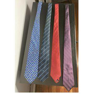 Set of 4 Designer Men's Silk Ties